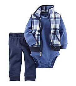 Carter's® Baby Boys 3-Piece Plaid Vest Set
