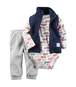 Carter's® Baby Boys 3-Piece Firetruck Vest Set