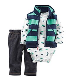 Carter's® Baby Boys 3-Piece Dino Vest Set