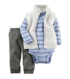Carter's® Baby Boys 3-Piece Striped Vest Set