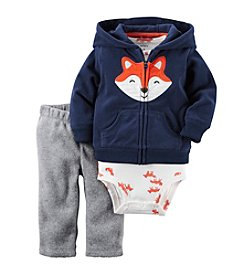 Carter's® Baby Boys 3-Piece Fox Hoodie Set