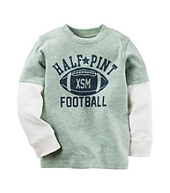 Carter's® Baby Boys Long Sleeve Half-Pint Football Layered Tee