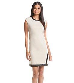 Calvin Klein Contrast A-Line Shift Dress