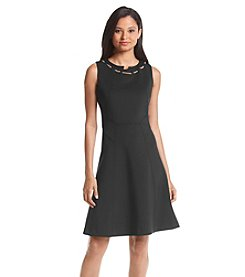 Ivanka Trump® Chain Scuba Dress