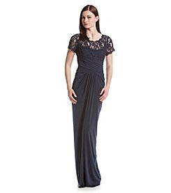 Adrianna Papell® Draped Lace Gown