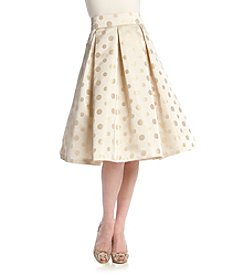 Eliza J® Dot Patterned Pleated Skirt