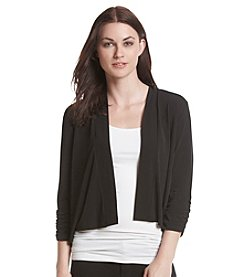 Kasper® Scrunch Sleeve Knit Cardigan