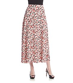 Kasper® Layered Dot Maxi Skirt