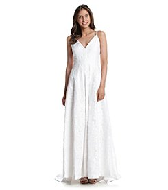 Calvin Klein Beaded Strap Gown
