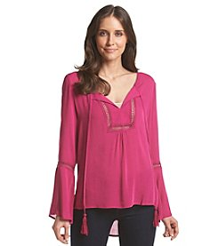 August Silk® Crinkle Woven Top