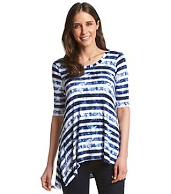 Cupio Striped Scoop Neck Top