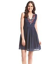 Chelsea & Theodore® V-Neck Shirt Dress