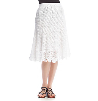 Chelsea & Theodore® Lace Pull On Skirt plus size,  plus size fashion plus size appare
