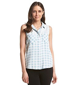 Chelsea & Theodore® Button Up Plaid Top