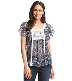Ruff Hewn Prince Lace Peasant Top