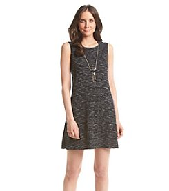AGB® Marled Knit Necklace Dress