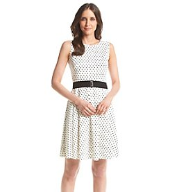 Julian Taylor Dot Patterned Scuba Dress