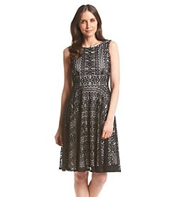 Julian Taylor Patterned Lace Dress