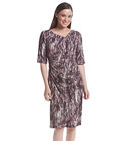 Connected® Patterned Sheath Dress