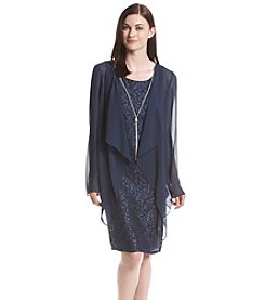 Jessica Howard® Lace Draped Jacket Dress