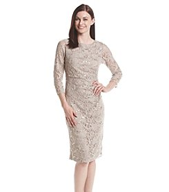 Jessica Howard® Side Tucked Lace Sheath Dress