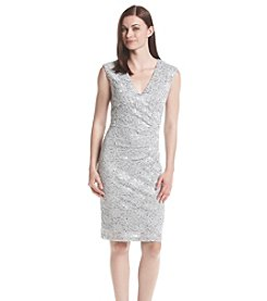 Connected® Allover Patterned Lace Dress