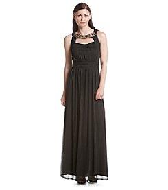 Sangria™ Beaded Neck Gown Dress