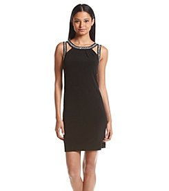 Calvin Klein Embossed Strap Shift Dress