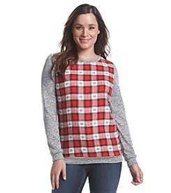 Ruff Hewn Check Front Sweatshirt