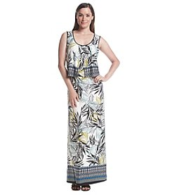 Notations® Sleeveless Scoop Neck Maxi Dress