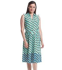 Notations® Sleeveless Point Collar Dress