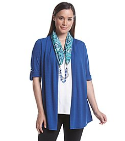 Notations® Solid Layered Look Scarf Top