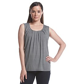 Notations® Pleated Printed Tank