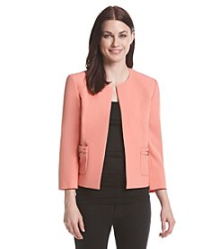 Kasper® Two Pocket Stretch Crepe Jacket