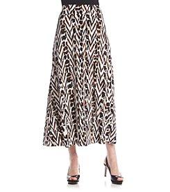 Kasper® Printed Maxi Skirt