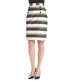 Nine West® Straight Button Skirt