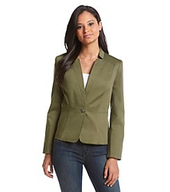 Nine West® One Button Notch Jacket