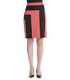 Nine West® Colorblock Straight Skirt