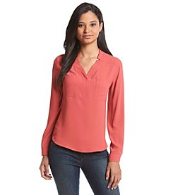 Nine West® Crepe Two Pocket Blouse