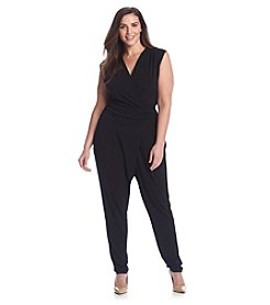 MICHAEL Michael Kors® Plus Size Solid Wrap Jumpsuit