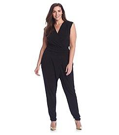MICHAEL Michael Kors® Plus Size Solid Wrap Jumpsuit