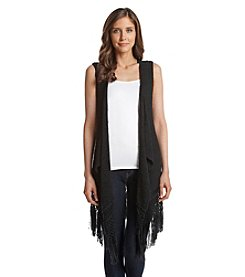 Relativity® Open Front Fringe Vest