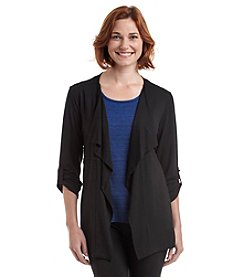 Laura Ashley® Solid Drape Neck Jacket