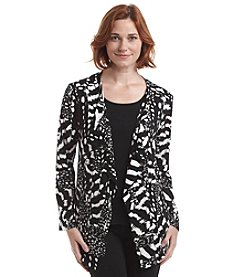 Laura Ashley® Abstract Shadow Drape Neck Jacket