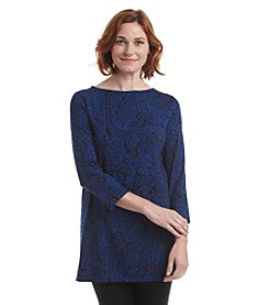 Laura Ashley® Printed Boatneck Tunic