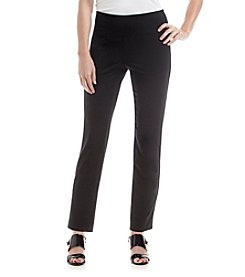 Laura Ashley® Solid Slim Leg Pants