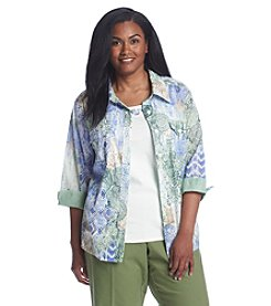 Alfred Dunner® Plus Size Cyprus Layered Look Woven Top