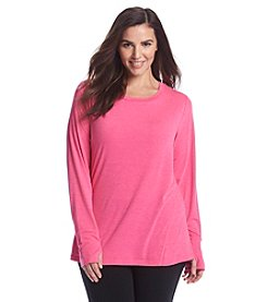 Exertek® Plus Size Solid Color Long Sleeve Performance Top