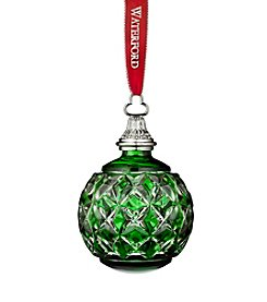 Waterford® The Green Cased Ball Ornament