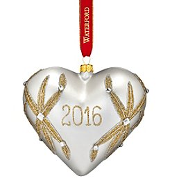 Waterford® Our First 2016 Dated Heart Ornament
